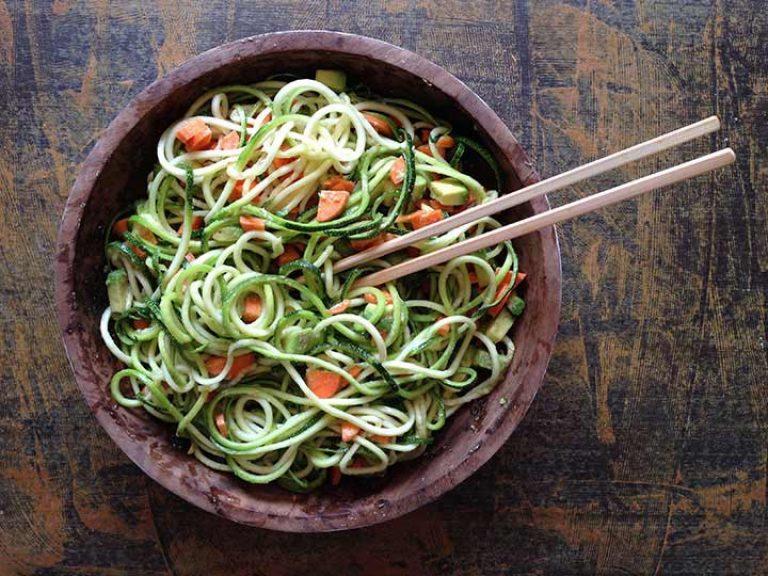 Espaguetis de calabacín- Alimenatción limpia