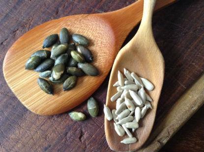 Semillas de calabaza y girasol tostadas o crudas
