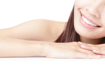 Beaitiful Girl smile mouth (lip) and hand