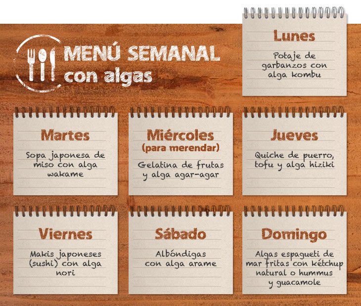 menu semanal algas