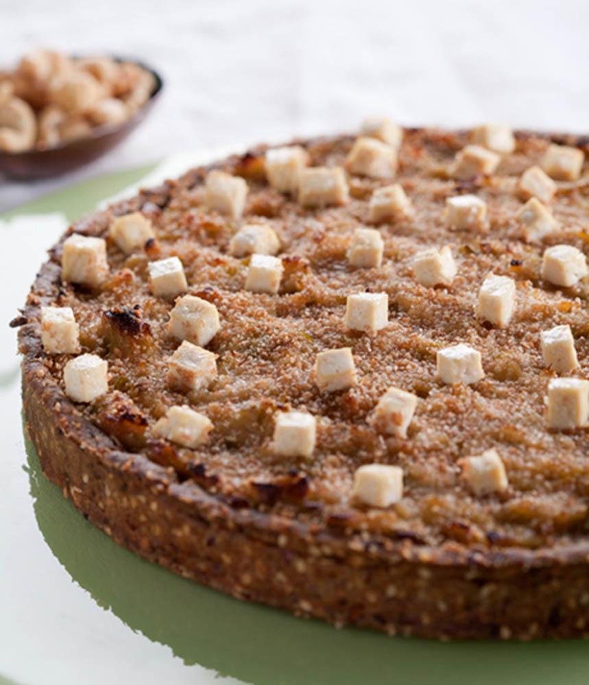 pastel de puerro y cebolla