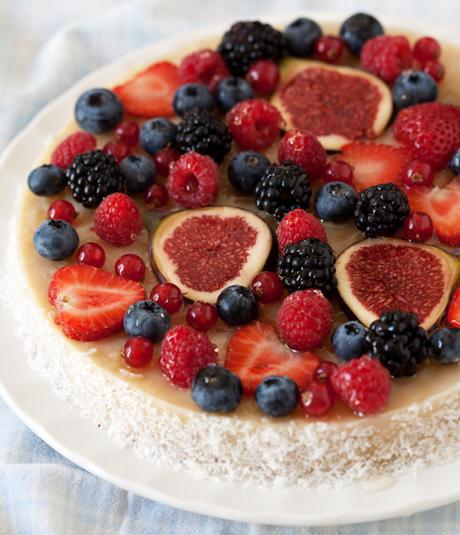 Pastel frutas esculies
