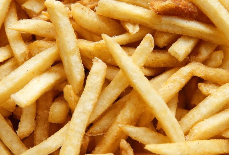 Patatas chips con potencial nivel alto de acrilamidas