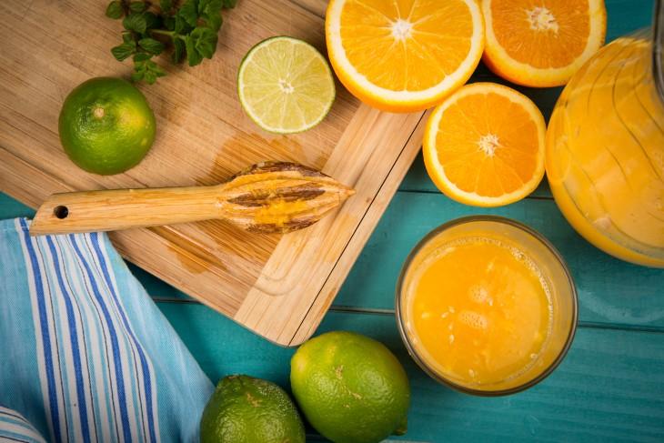 zumo naranja preparacion