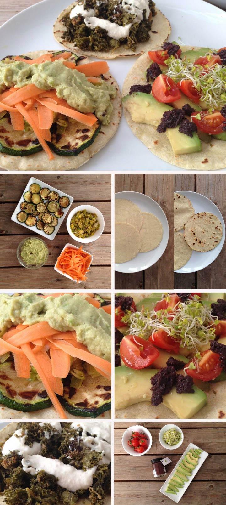 Ingredientes y elaboración tacos veganos sin gluten