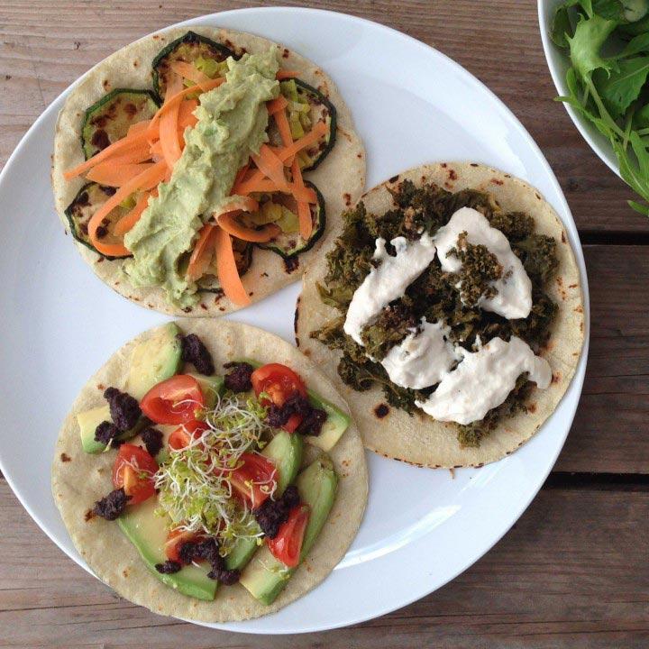 Tacos veganos sin gluten