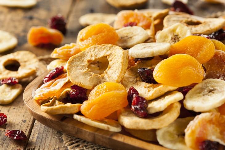 fruta liofilizada