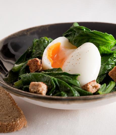 huevos espinacas