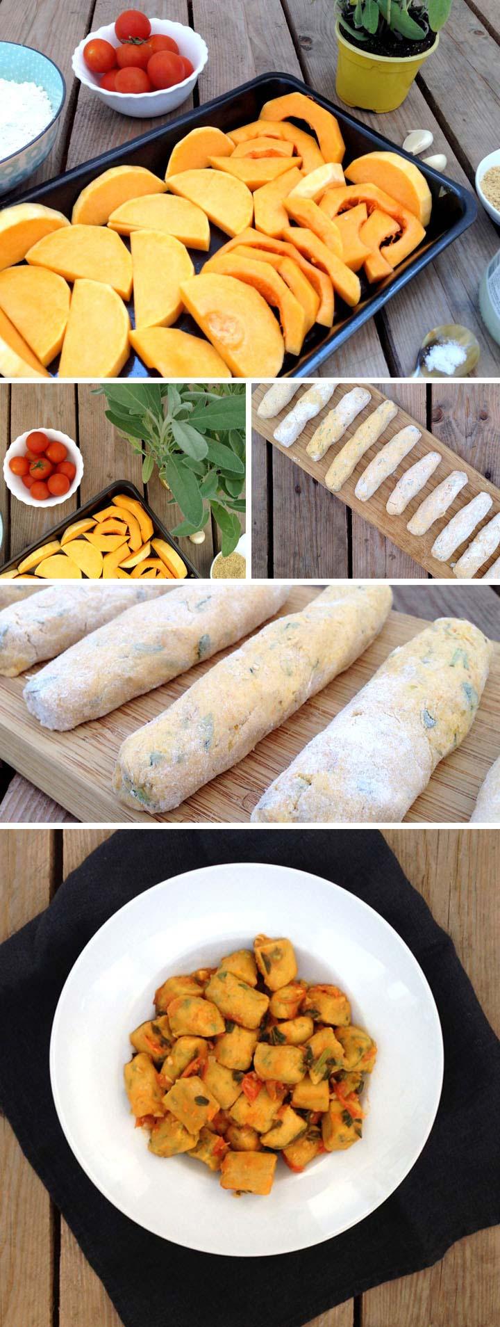 Ingredientes y elaboración ñoquis calabaza