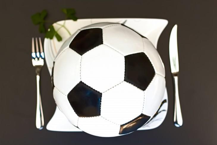 fútbol y alimentación