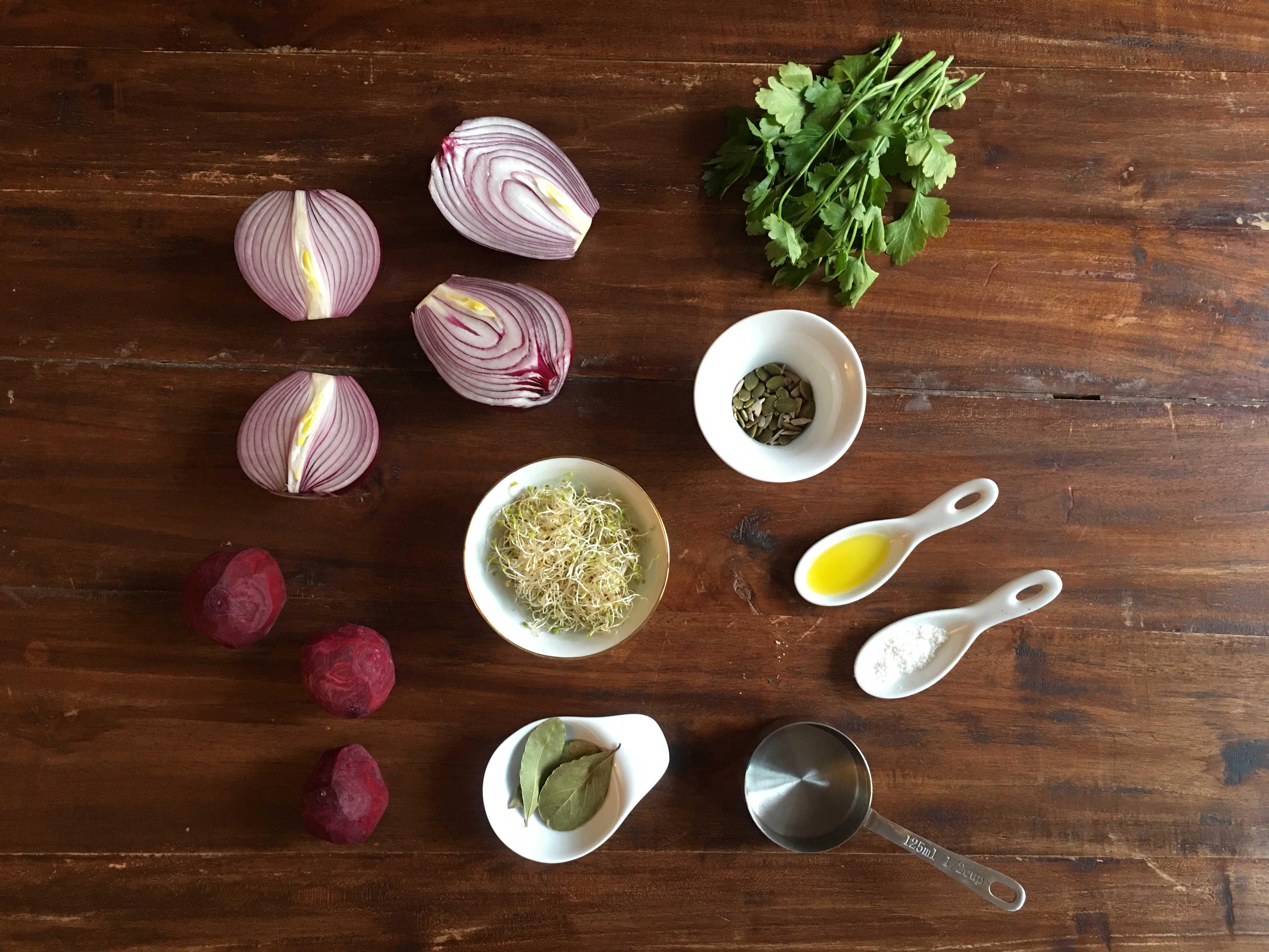 Ingredientes crema de remolacha
