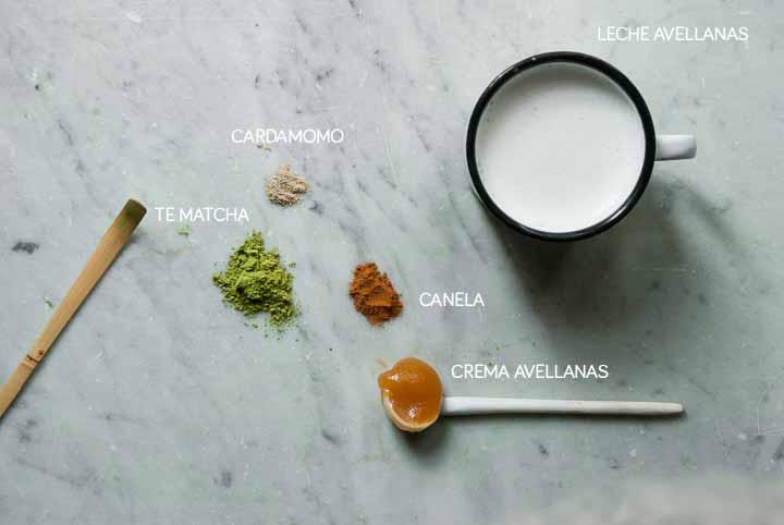 Ingredientes té matcha