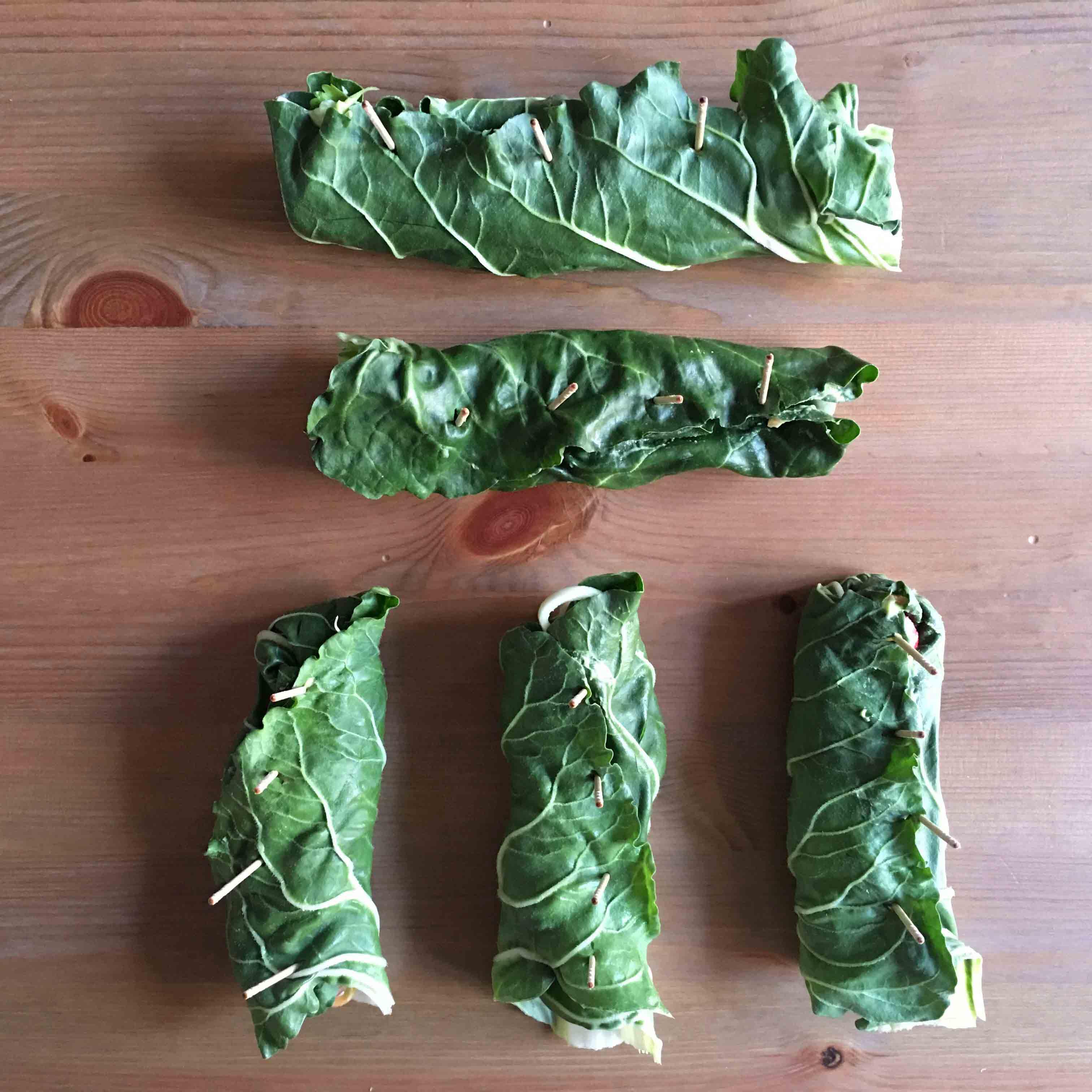 Wraps crudiveganos paso 4