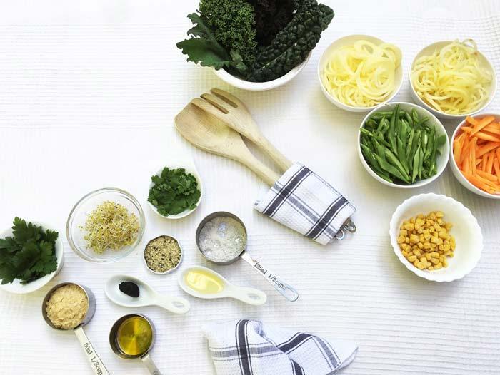 Ingredientes patatas y judías versionada