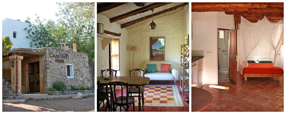Recepción y habitaciones de Can Martí