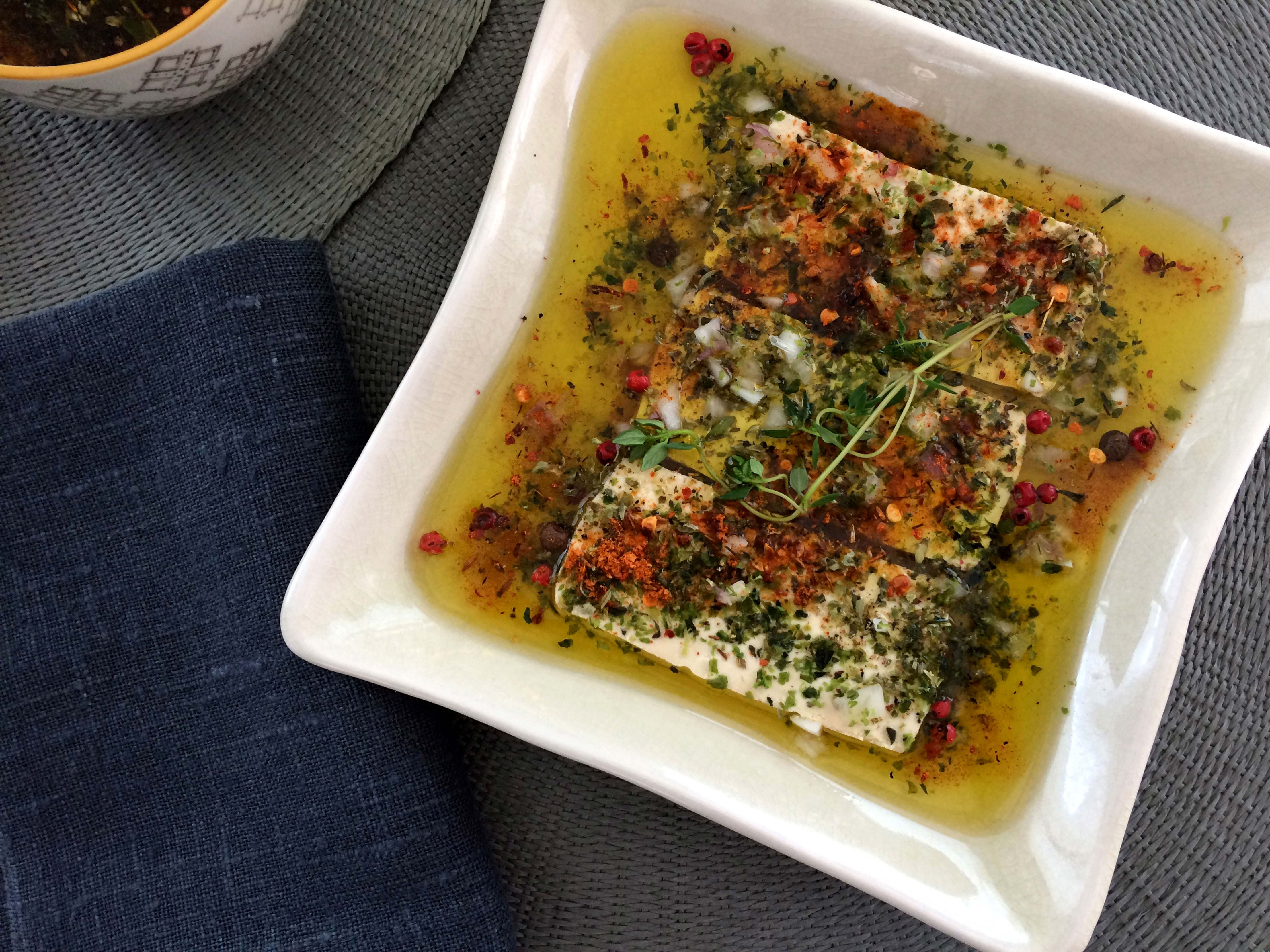 Tofu macerado