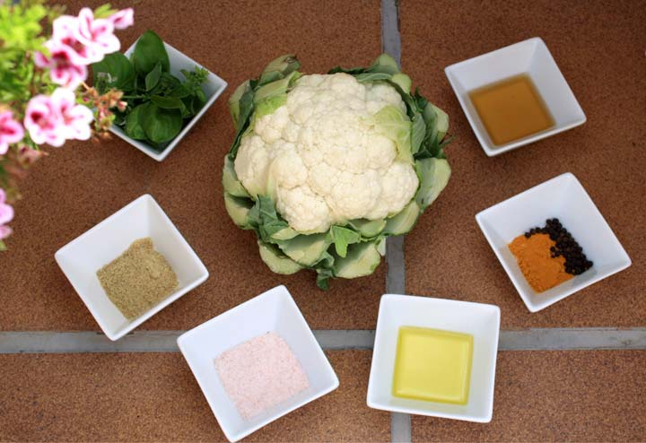 Ingredientes coliflor macerada