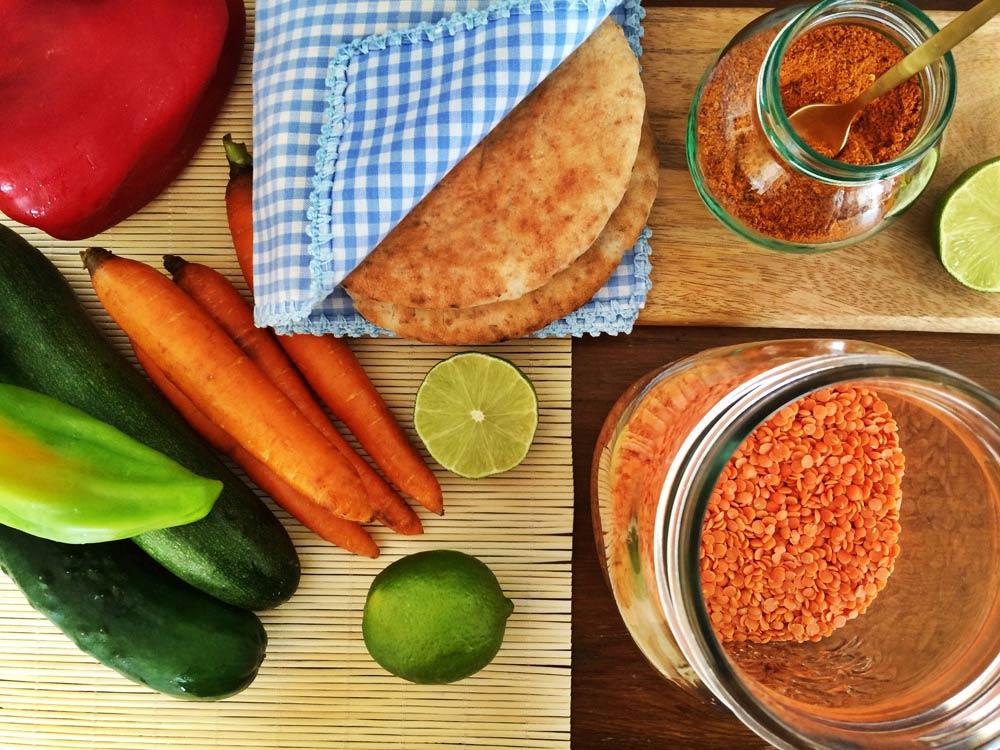 Ingredientes hummus lentejas