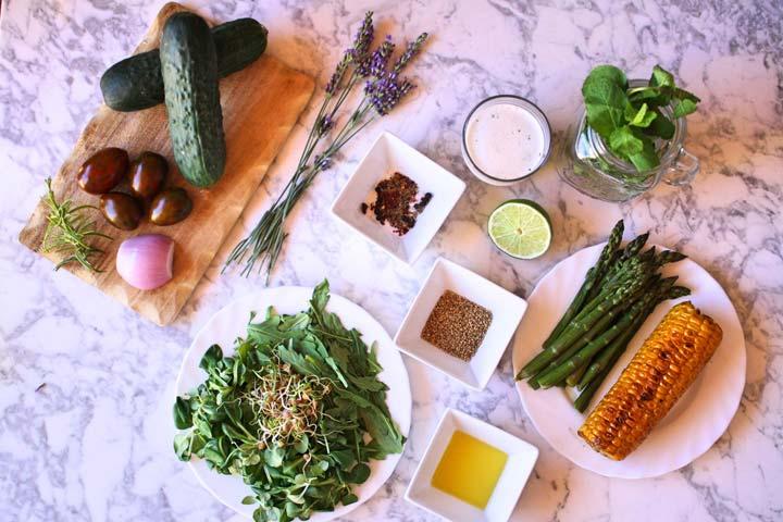 Ingredientes ensalada refrescante