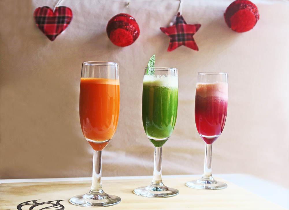 Aperitivos saludables navidad - licuados digestivos