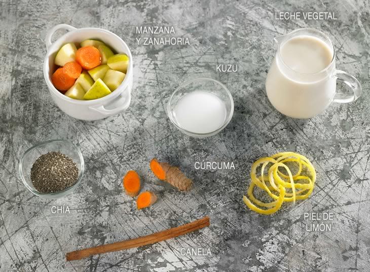 Compota de zanahoria y manzana e hidratado de chía