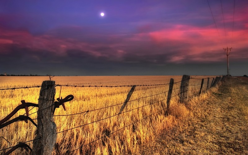fence-wires-nature-landscapes-fields-wheat-grass-pole-rustic-farm-sky-clouds-sunset-sunrise-wallpaper-214803