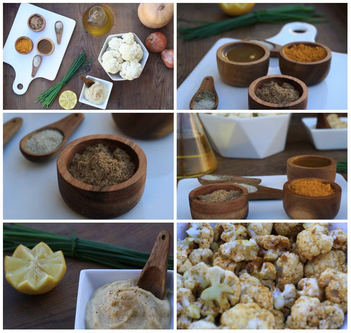 Ingredientes coliflor garam masala
