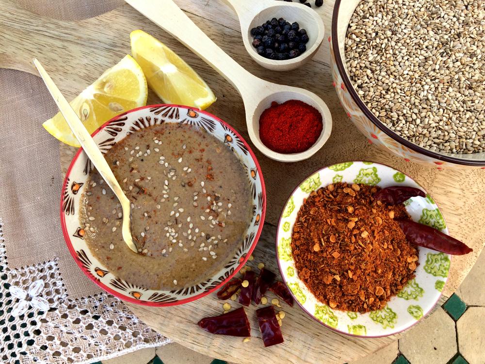 Receta de calabaza y salsa de tahina picante