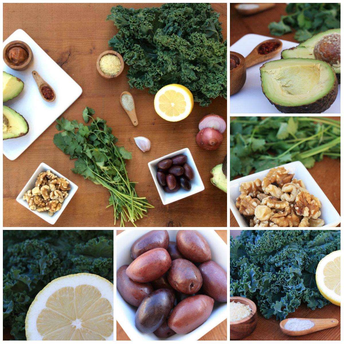 Ingredientes ensalada de kale