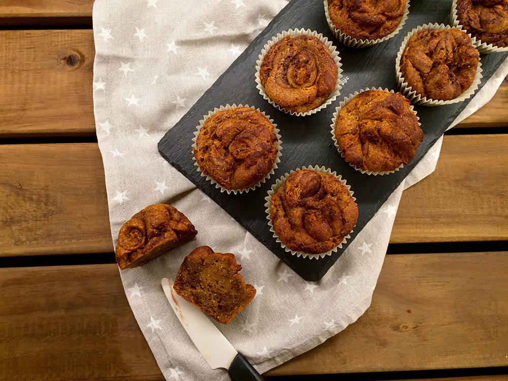 muffins de chufa y boniato