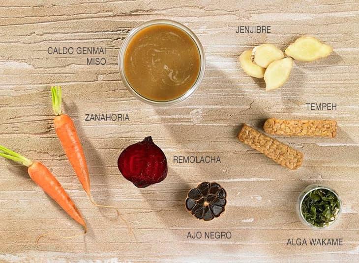 Ingredientes caldo sopa de miso