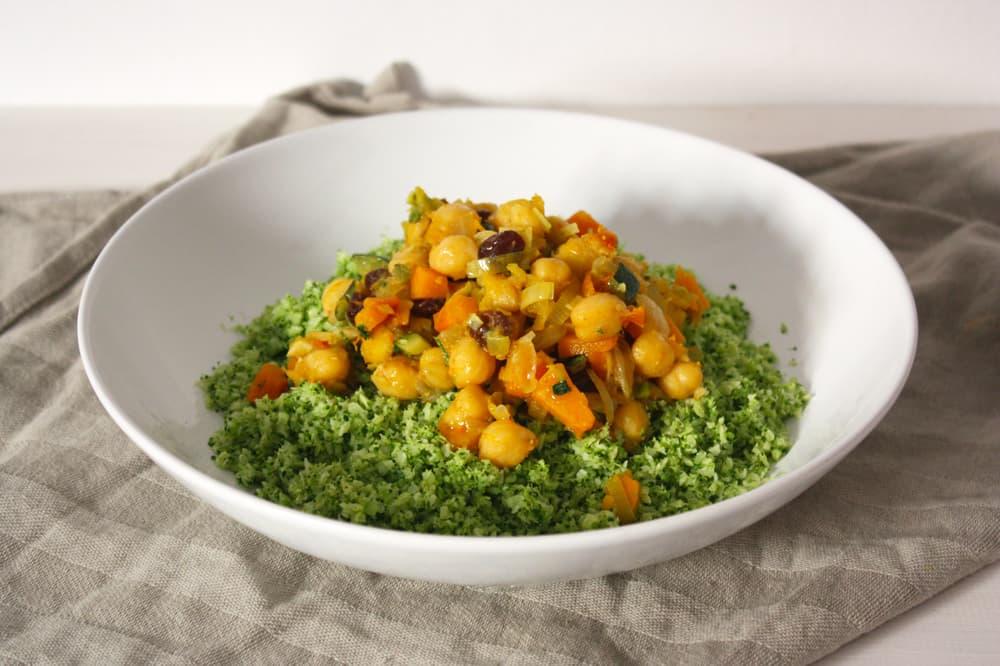 Cuscús de brócoli al estilo marroquí