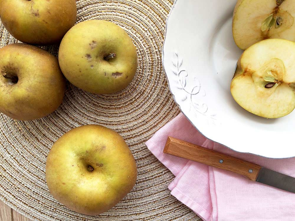 Supercrema antianémica con tropezones de la sabrosa reina de las manzanas