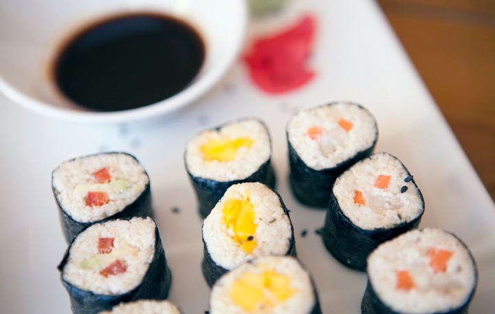 Sushi vegetal de Level Veggie