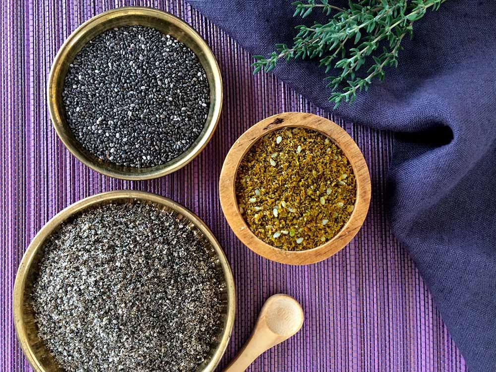 Delicia de calabacín-chía con zaatar; el secreto de las especies que curan