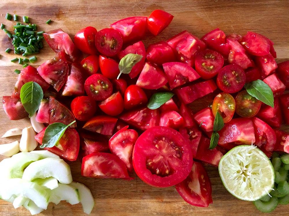 El tomate es el principal ingrediente del gazpacho.