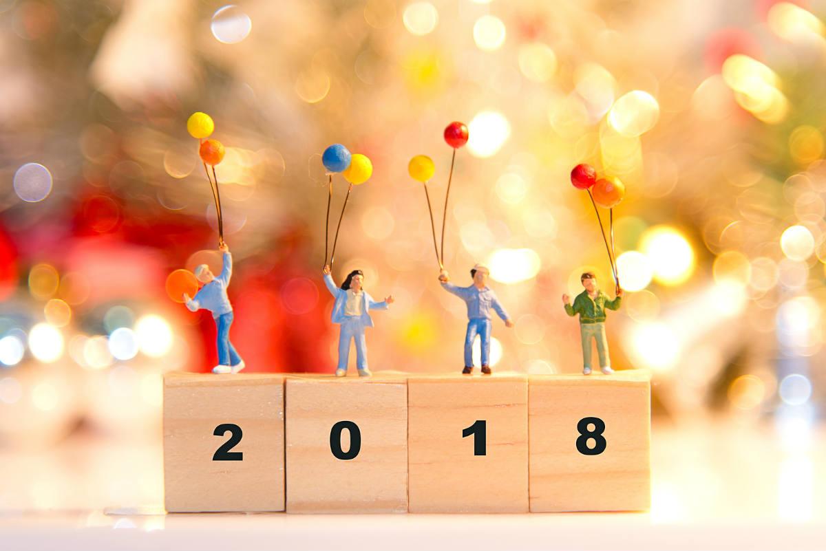 Calendario anual con 12 propósitos healthy
