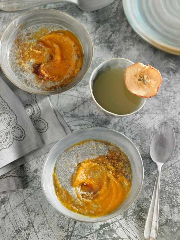 Receta de compota de zanahoria y manzana con hidratado de chía por Adriana Ortemberg