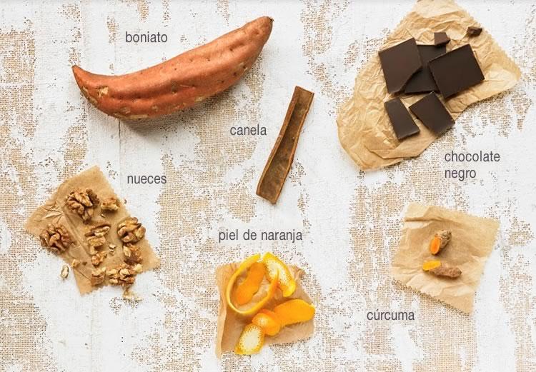 Paté de boniato y chocolate