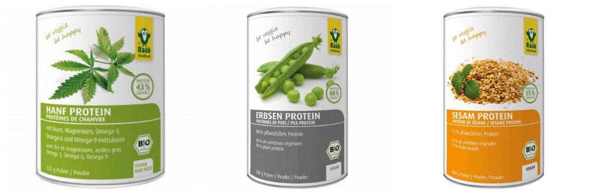 Proteínas vegetales en polvo