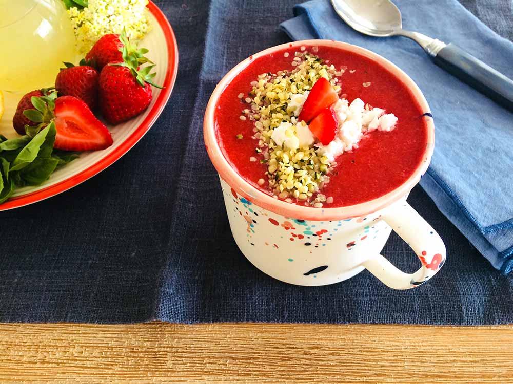 Fragancia de fresas, albahaca, aloe vera y germinados sanadores