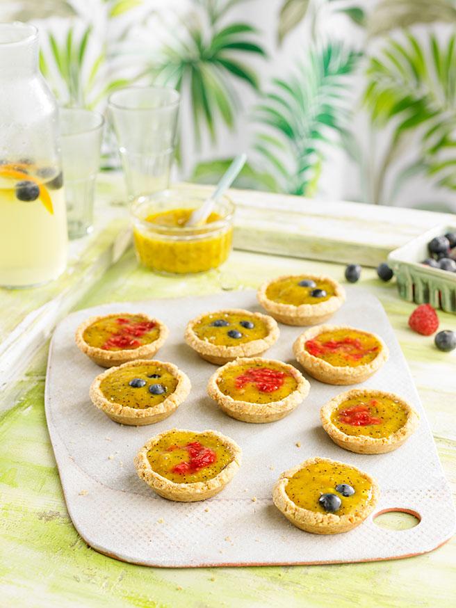 Receta de tartaletas de mango y coco por Adriana Ortemberg