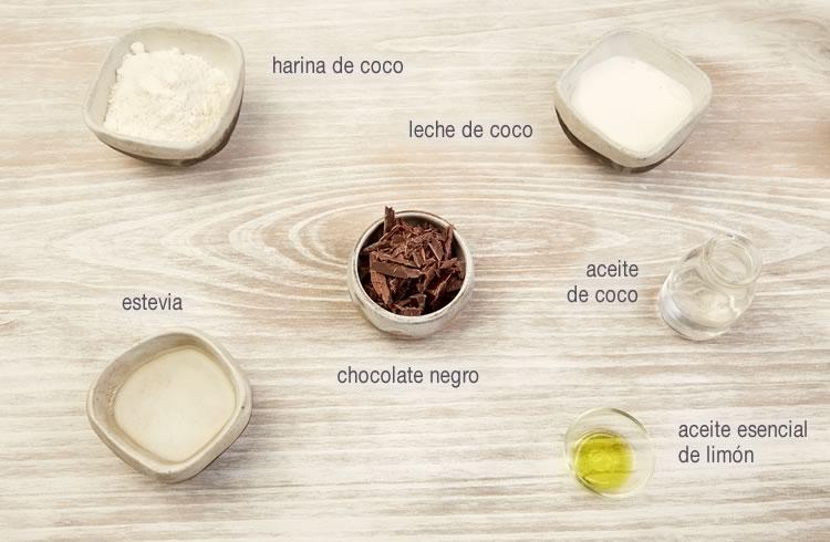 Receta de barrita energética de coco y chocolate