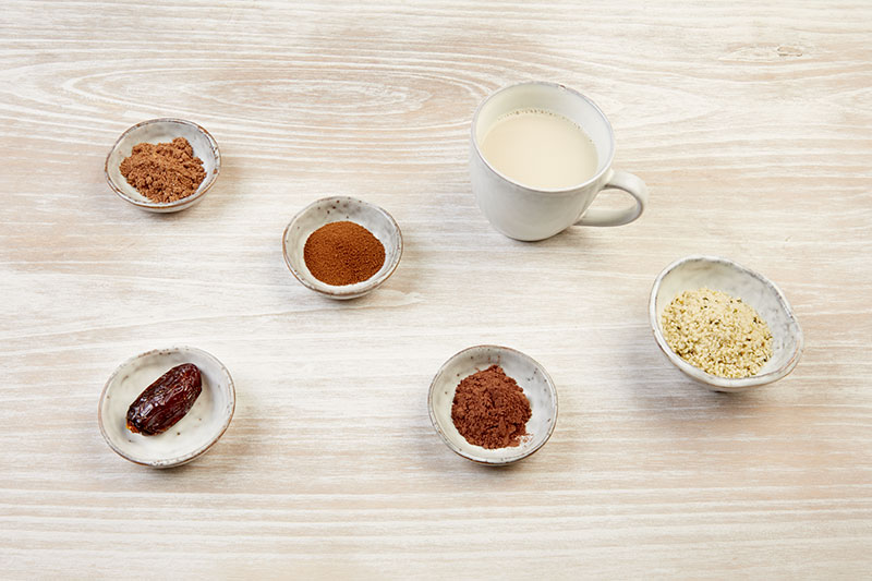 Ingredientes del hot smoothie chai