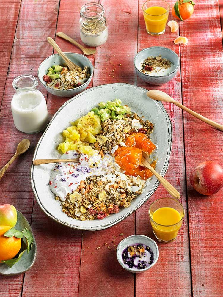 Receta de crunchy granola de quinoa