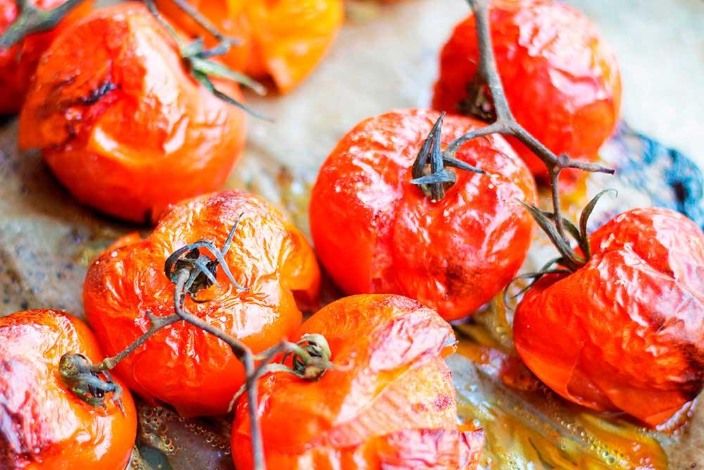 Tomates al horno.