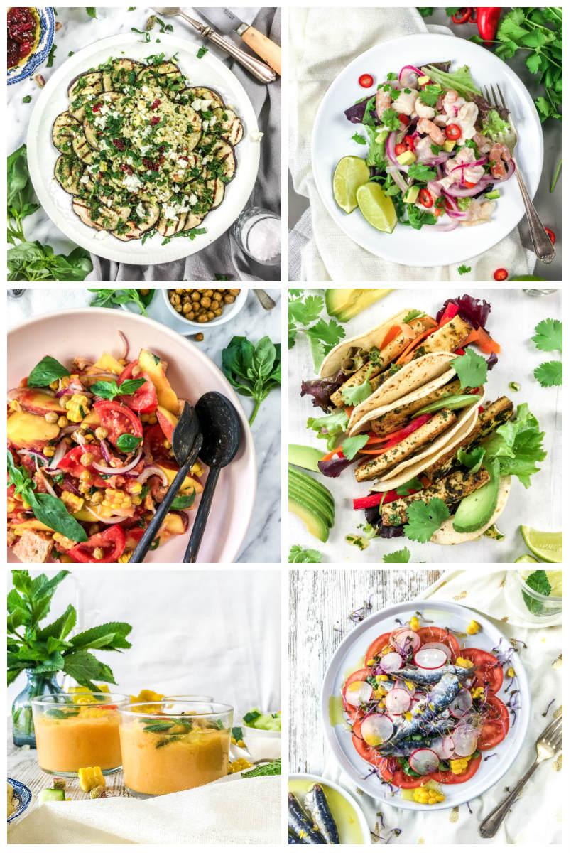 Cenas de verano fáciles y sanas