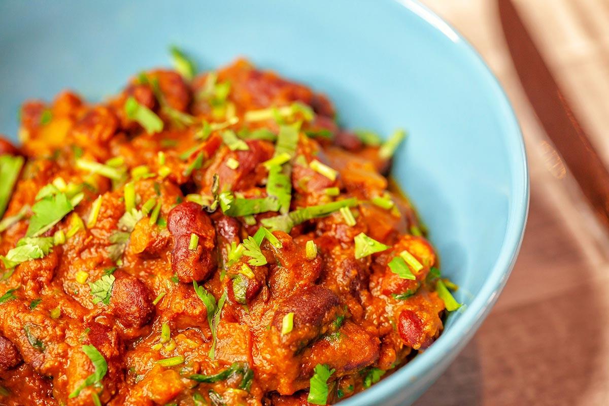 Plato vegano del restaurante Rangoli