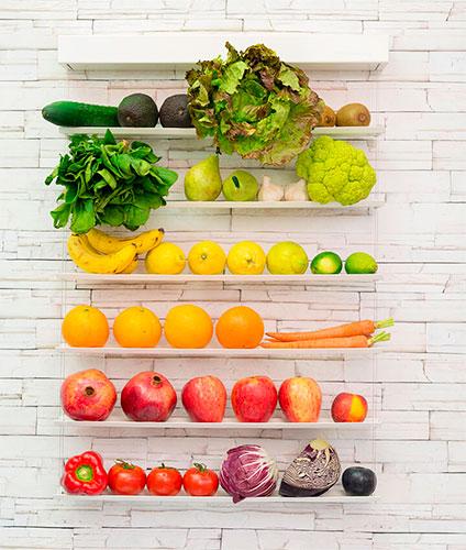 frutero vertical de pared
