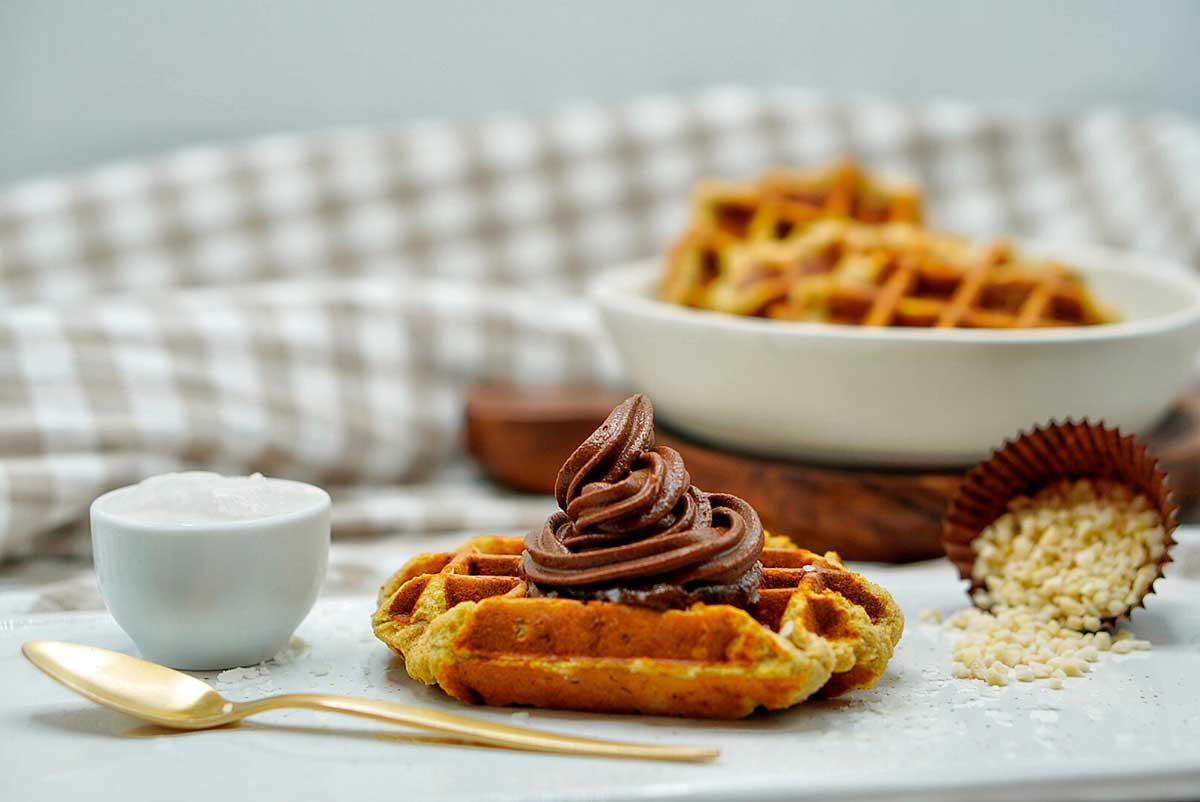 Receta Gofres de calabaza y Nutella
